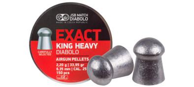 Βολίδες JSB EXACT KING HEAVY 6.35mm