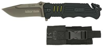 K25 Tactical Pocket Knife Black (19581)