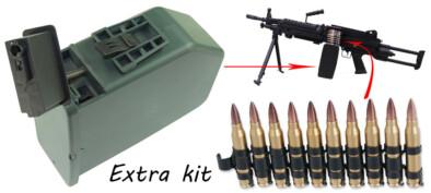 Airsoft M249 PARA BK Extra Kit